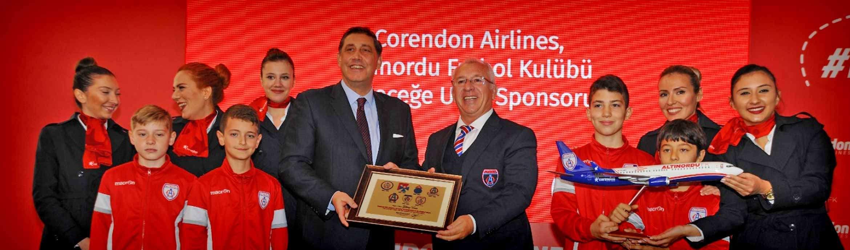 """Corendon Airlines, Sponsor van de voetbalclub Altınordu onder de slogan""""Vlucht naar de toekomst"""""""